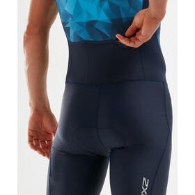 2XU Active Strój triathlonowy Mężczyźni, midnight/blue terrain